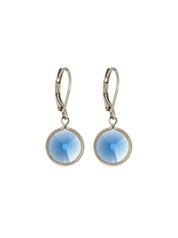 Sapphire Channel Earrings