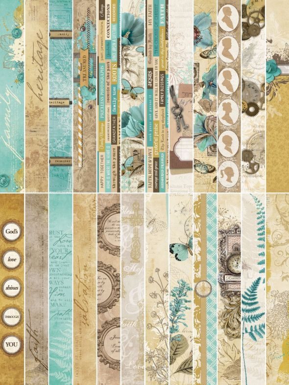 Miracles and Milestones by Katie Pertiet Border Strips